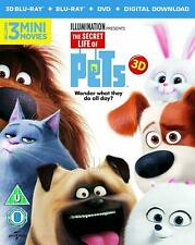 The Secret Life Of Pets (3D Blu Ray+Blu Ray+DVD+Digital download) NEW & SEALED