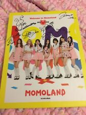 Autographed Momoland 1st Mini Album Welcome To Momoland All Members Signed Kpop