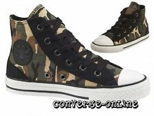 KIDS Boy Girl CONVERSE All Star BLACK GREEN CAMO HI TOP Trainers Boot SIZE UK 11