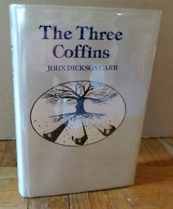 JOHN DICKSON CARR - THE THREE COFFINS  First Gregg Press Ed. in DJ  Free Ship