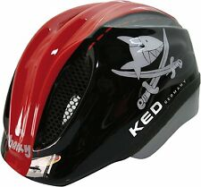 KED Helm  Fahrradhelm Kinderfahrradhelm Sharky black red Gr. M 52 - 58 cm neu