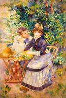 Pierre Auguste Renoir In the Garden - Poster 24x36 inch