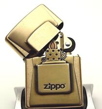 Zippo Lighter Limited Edition BRUSHED GOLDEN FLAME - Super rare ltd brass gold
