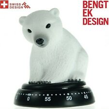 White Polar Bear Kitchen Cooking Alarm Egg Timer Countdown Count Down 60 Min 611