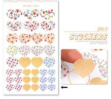 Paper Sticker SET Planner Card Scrapbook 4 Sheets per set 19 x 11 cm Floral dots