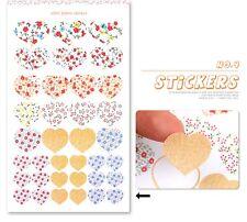 Etiqueta engomada de papel establecido planificador tarjeta scrapbook corazones Banners círculos compre 2 lleve 1 Gratis