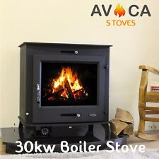 30KW Back Boiler Multifuel Woodburning Stove Stoves Log Burner