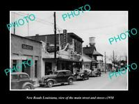 OLD 6 X 4 HISTORIC PHOTO OF NEW ROADS LOUISIANA THE MAIN ST & STORES c1950 1