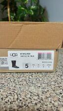 WOMEN'S UGG Australia Malindi Boots Black Leather and Nubuck Size~ 5