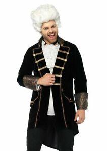Deluxe Count Dracula Costume, Black Velvet Frock Coat, Regency Vampire Halloween