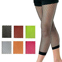 Women Fishnet Leggings Party Costume Dance Wear Neon Legging 1980s Colorful