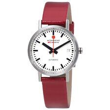 Mondaine Classic Automatic White Dial Ladies Watch A1283000816SBCRD