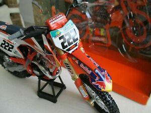 NEWRAY Toys 1:10 KTM SXF 450 Tony Cairoli Motocross bike model
