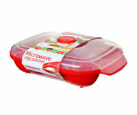 Sistema Microwave Egg Poacher For Up to 4 Eggs - Red