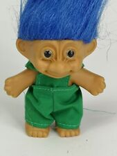 """Vintage 3"""" 1992 Russ Troll in Green Dungerees"""