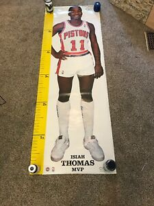 RARE ISIAH THOMAS PISTONS 1987 VINTAGE ORIGINAL MEASURE UP DOOR SIZE POSTER