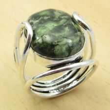 Ring For Boy Friend !! 925 Silver Plated MOSS AGATE Gift Size P BRAND NEW