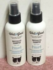 Well & Good WATERLESS SHAMPOO FOR CATS No Rinsing ~ Fresh Linen Scented  4 Ounce