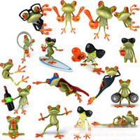 5 Pcs 3D Peep Frog Funny Car Stickers Truck Window Graphics Sticker Luxur #ow