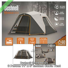 Bushnell Instant Cabin Tent 6 Person 11' x 9' Outdoor Family Tents for Camping