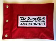 The Buck Club Red Golf Pin Flag