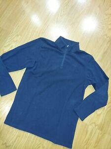 EUC Champion Boys Fleece Pullover 1/4 Zip  Navy Long Sleeve Solid Size XL