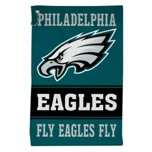 "PHILADELPHIA EAGLES ALL PURPOSE GOLF TAILGATE TOWEL 16""X25"" HOOK AND GROMMET"