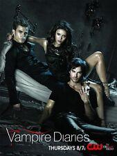 THE VAMPIRE DIARIES TVD Poster PAUL WESLEY CW Ian Somerhalder NINA DOBREV Sexy