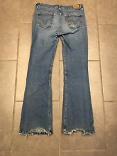Women's Distressed LEVIS 518 Superlow Bootcut Jeans Size 9 - 29 W 29 Inseam