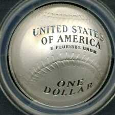 2014-P FIRST STRIKE, CURVED COIN  PCGS PR70DCAM, $1 Baseball Hall of Fame