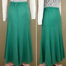Vintage 60s 70s Phillippe Marques Mint Spearmint Green Flared Circle Skirt L