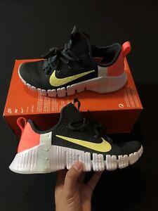 Nike Women's Free Metcon 3 Black White Mango CJ6314-020 Sizes 7-9