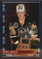 2001-02 Topps Chrome Mario Lemieux Reprints Hockey Card #6 Mario Lemieux