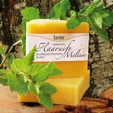 SAVION Haarseife MELISSE 85 g VEGAN HAARWASCHSEIFE Shampoo GRATIS* Luffa-Schwamm