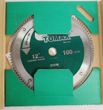 Tomax 12-Inch 100 Tooth Tcg Aluminum and Non-Ferrous Metal Saw Blade with 1-I.