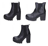 J. K. ACID scarpe donna tronchetti stivaletti nero pelle tre modelli