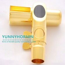 High Grade Metal Jazz Alto Saxophone Mouthpiece Gold Plated Sax MPC BRAND NEW
