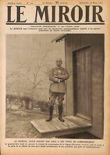 Général Frédéric-Georges Herr devant sa Cabane en Bois  WWI 1917 ILLUSTRATION