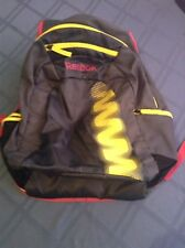 Reebok backpack large Z series book bag gray yellow and red