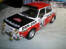 1/18 Simca 1000 Rallye 2 Monte Carlo 1973 Fiorentino Gelin Ixo Altaya Neuf Boite