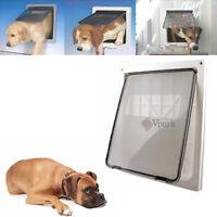 "Extra Large 17"" x 14"" Pet Cat Dog  Lockable  Flap Door  Gate w Telescoping Frame"