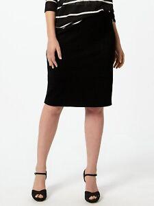 NEW Ladies Womens Studio 8 Phase Eight SIOBHAN PENCIL SKIRT Size 18,22,24 BLACK