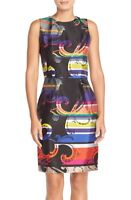 * NWT Trina Turk 'Kudson' Sheath Dress silk blend 0  4 $378