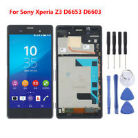 Para Sony Xperia Z3 D6653 D6603 Pantalla LCD Touch Digitalizador Parte marco AES