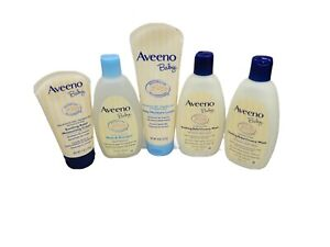 Aveeno Baby Soothing Relief Lotion, Creamy Wash, Wash & Shampoo, Lotion Lot Of 5