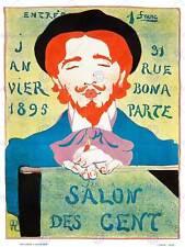 ADVERT EXHIBITION COMMERCIAL SALON DES CENT PARIS FRANCE POSTER PRINT BB7868B