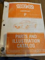 1982-92 Chevrolet Camaro F Parts And Illustration Catalog