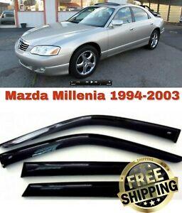 For Mazda Millenia 1994-2003 Window Side Visors Sun Rain Guard Vent Deflectors