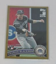 2011 Topps Update #US231 Charlie Blackmon Gold Parallel RC Rookie Card #/2011