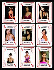 ALYSSA MILANO 1 BOX WITH 54 POKER PLAYING CARDS - ARGENTINA! - NIB